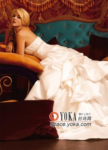 美丝绸婚纱 让新娘在幸福中陶醉 jamiy的时尚图片 YOKA时尚空间