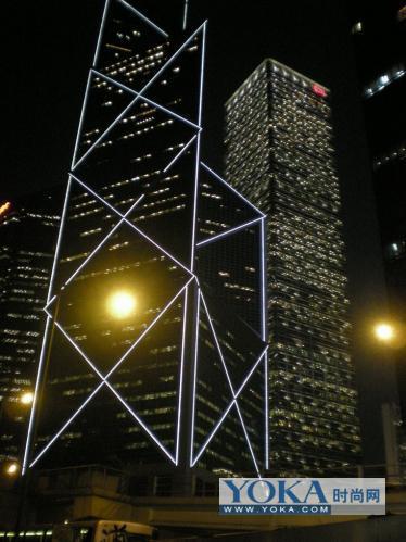 香港中银大厦结构图:香港中银大厦模型图:女人结构图