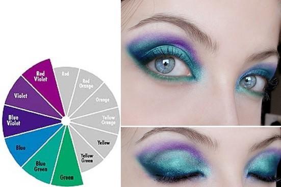 冷色系:冷色系的眼影比较适合肿眼泡的眼睛.