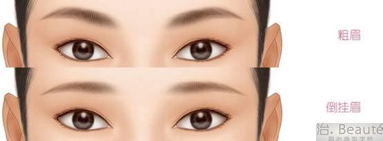 圆脸眉形画法步骤