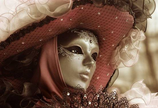 唯美面具手绘大全