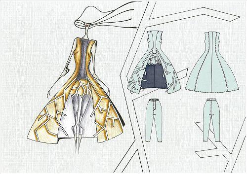 时尚服装设计手绘学生