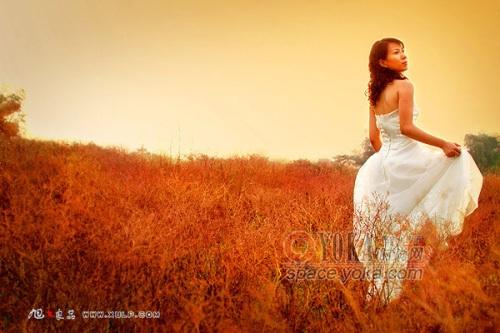 扬州时尚外景婚纱摄影_扬州天长地久婚纱摄影3D外景疯狂拍