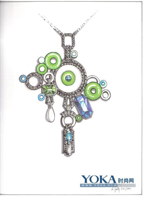 珠宝设计图手稿-中国首届校园新锐珠宝设计手稿大赛的时尚博客