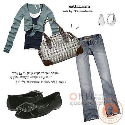 T恤 牛仔裤 时尚服装搭配 sidlovenancy的时尚图片 YOKA时尚空间