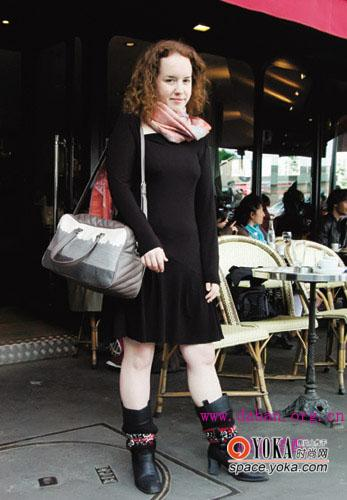08秋季时尚靴子穿搭图片