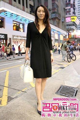 街拍香港美女时尚秋装搭配