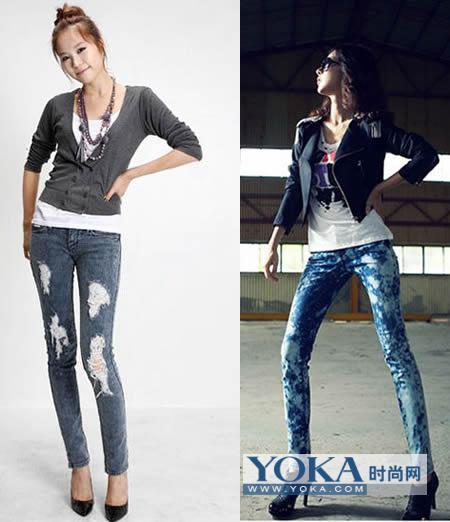 让你变焦点的时尚穿衣搭配 显瘦牛仔裤