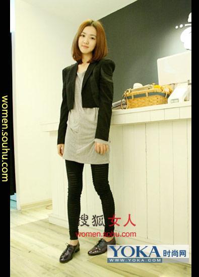 冬季服饰搭配点评:硬朗的西装也能穿出如此可爱