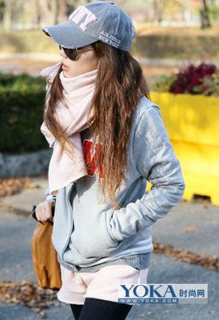 韩流女孩的时尚冬季服饰搭配