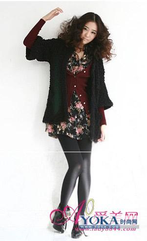 精致淑女风冬季服装搭配