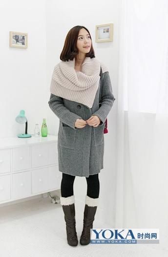 时尚披肩式毛线大围巾