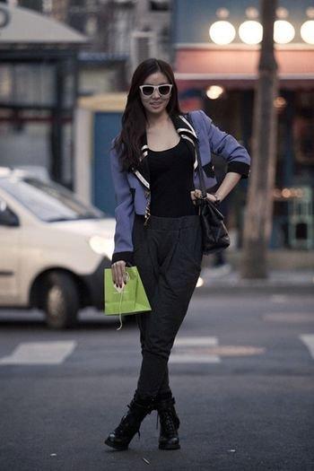 服装搭配技巧图示-韩国街拍客的时尚服搭配技巧图片