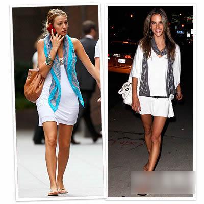 今年最流行的夏装图片-明星出时尚感流行的夏装